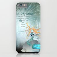 iPhone & iPod Case featuring THE MERMAID by Monika Strigel