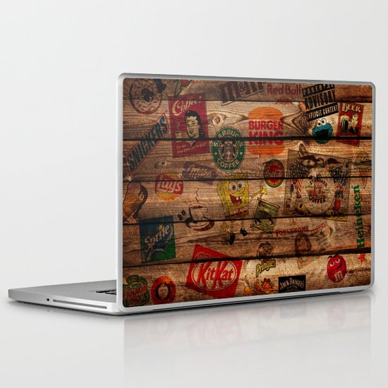 Wooden wall of Brands Laptop & iPad Skin