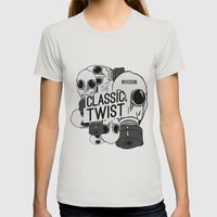 Invision The Classic Twist  Womens Fitted Tee Silver SMALL