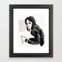 Joan Jett  Framed Art Print