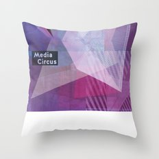Media Circus Throw Pillow