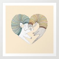 Love Sleep Art Print