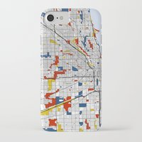 chicago iPhone & iPod Cases featuring Chicago by Mondrian Maps