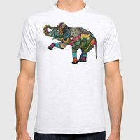 asian elephant white Mens Fitted Tee Ash Grey SMALL