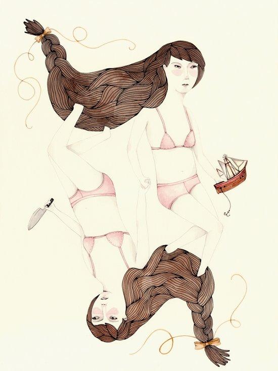 Twisted Sister Art Print