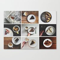 Canvas Print featuring Morning stories - SWEET set by Lucia Jesenská