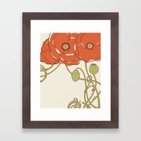 Graphic Poppies Framed Art Print