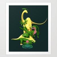 Grassiosaurs Art Print