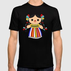 Maria 2 (Mexican Doll) Mens Fitted Tee Black SMALL