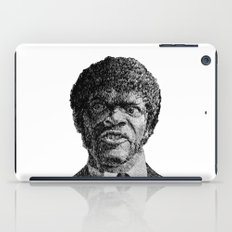 Jules Winnfield Portrait - Fingerprint - Samuel L. Jackson - Pulp Fiction iPad Case