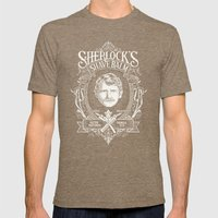 Sherlock's Shave Balm Mens Fitted Tee Tri-Coffee SMALL