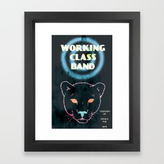 Working Class Panther, gig poster Framed Art Print