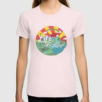 Life Is All Right (Color… Womens Fitted Tee Light Pink SMALL
