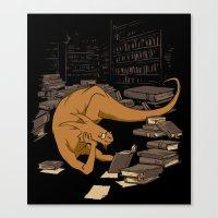 The Book Wyrm Canvas Print