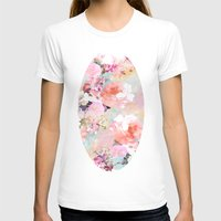 abstract T-shirts featuring Love of a Flower by Girly Trend