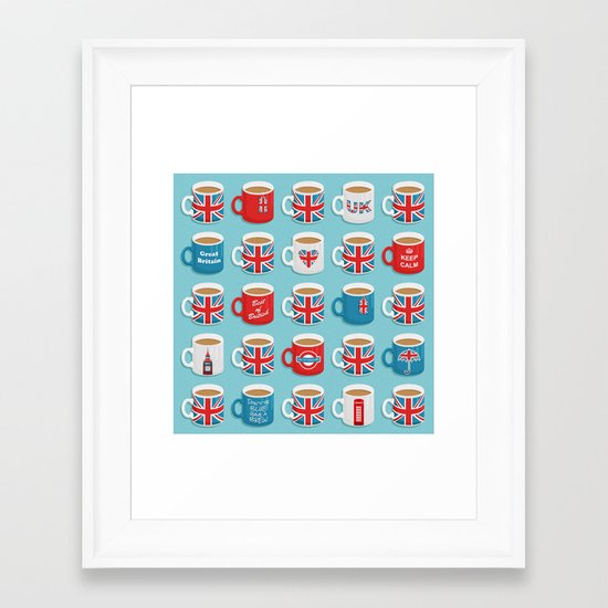 A Very British Brew Framed Art Print