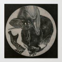 Totenkopf Und Fledermaus… Canvas Print