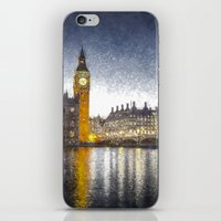 Westminster At Night Snow iPhone & iPod Skin
