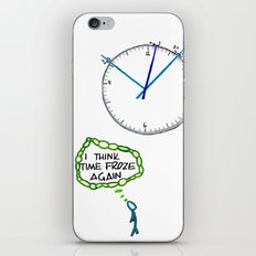 Shattered Frozen Time iPhone & iPod Skin