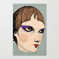 Canvas Print featuring make up by Le Butthead