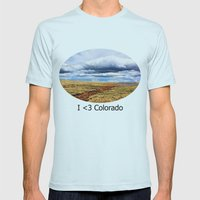 13,000 Feet Mens Fitted Tee Light Blue SMALL