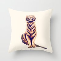Zen Tiger  Throw Pillow