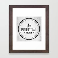Prairie Trail Park Framed Art Print