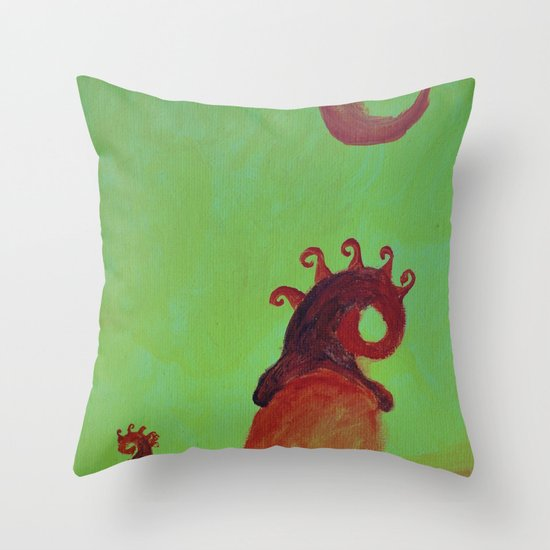 Plants and Moon Throw Pillow