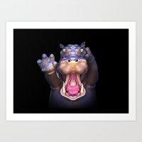 Animal Portraits - Hippo… Art Print