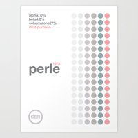 perle//single hop Art Print