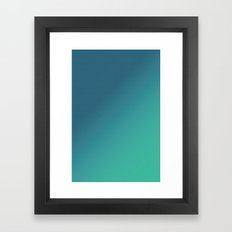 Teal Halftone Gradient Framed Art Print