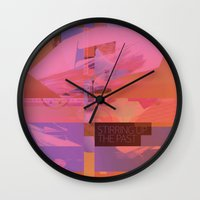 Stirring Up The Past Wall Clock