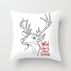 Wildlife is Your Friend Throw Pillow
