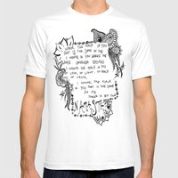 Namaste Doodle Mens Fitted Tee White SMALL