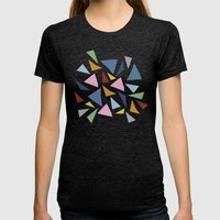 Abstraction #7 Womens Fitted Tee Tri-Black SMALL