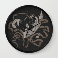 Night Falling  Wall Clock