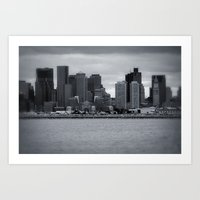 City and Airfield Art Print