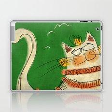 Cat - green Laptop & iPad Skin