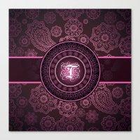 Monogrammed Aridi T Pink Canvas Print