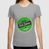 Deal James, Round Sticker Green Womens Fitted Tee Tri-Grey SMALL