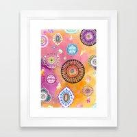 Bohemian Mandala elephant (bright) Framed Art Print