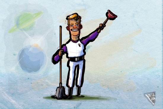 Use Verb on Noun #12: Space Quest Art Print