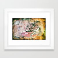 On My Way To The Moon. Framed Art Print