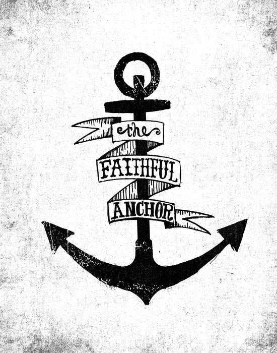 The Faithful Anchor Art Print
