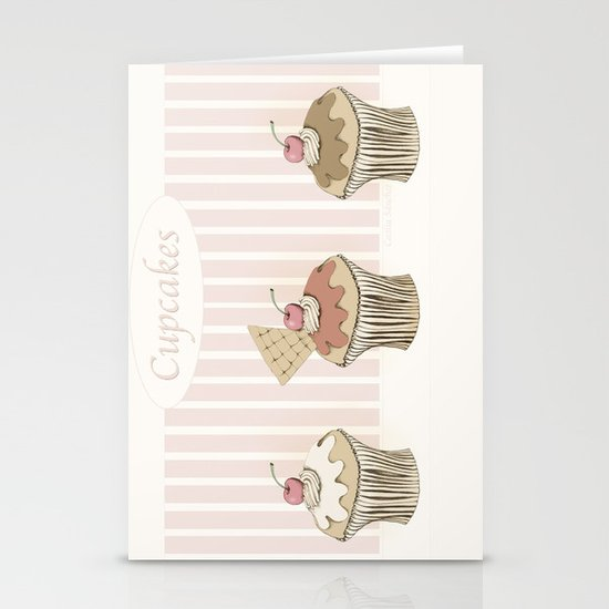 Cupcakes Stationery Card