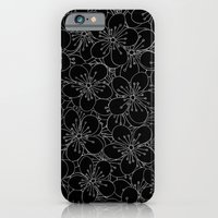 iPhone & iPod Case featuring Cherry Blossom Black on White - In Memory of Mackenzie by Project M