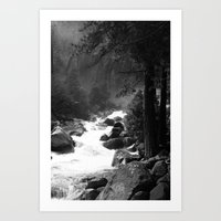 Whiteout Yosemite-2 Art Print