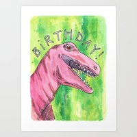 birthday Art Prints featuring Birthday by us and we [art]