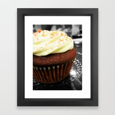 Red Velvet Cupcake Framed Art Print