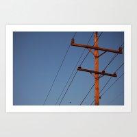 Telephone Pole Art Print